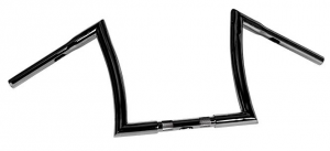 Handlebar Bad Ape hanger 12 Diameter 32mm, 25,4mm (1) Center Diameter,Black, Width 800 Pullback 150 Height 260 mm