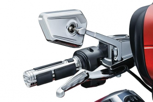 BAHN Grips for HD with Dual Throttle Cable, Chrome
