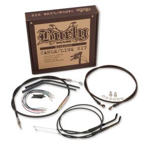 BURLY 18 inch CABLE KIT 07-10 FLST