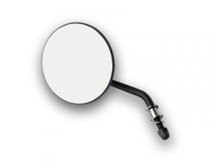 4 Round Mirror, Short Stem, Left Side, Black