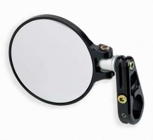 3-1/4 Round Folding Mirror Black