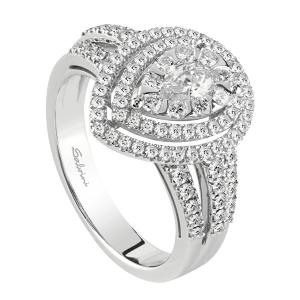 SALVINI-Anello in oro bianco con diamanti