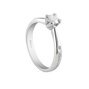SALVINI-Anello solitario in oro bianco con diamante