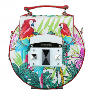 Hand and shoulder bag Cromia IT PARROT 1403660 BIANCO