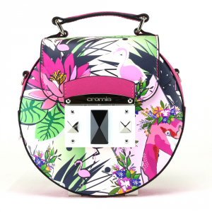 Hand and shoulder bag Cromia IT FLAMINGO 1403656 FUXIA