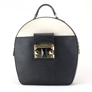 Backpack Cromia IT SAFFIANO 1403641 NERO+ORO