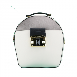 Backpack Cromia IT SAFFIANO 1403641 BEIGE+ACCIAIO