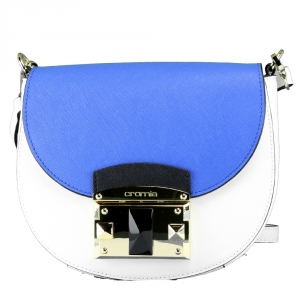 Shoulder bag Cromia IT SAFFIANO 1403640 BIANCO+INDACO