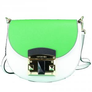 Shoulder bag Cromia IT SAFFIANO 1403640 BIANCO+VERDE
