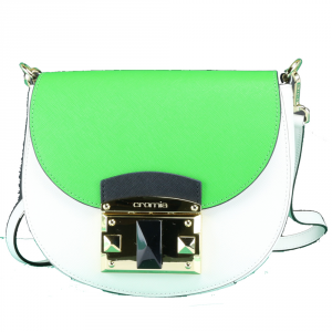 Shoulder bag Cromia IT SAFFIANO 1403640 BIANCO+VERDE