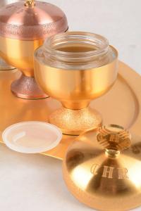 Servizio Oli Santi in metallo dorato FEL2825
