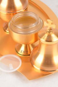 Servizio Oli Santi in metallo dorato FEL3058