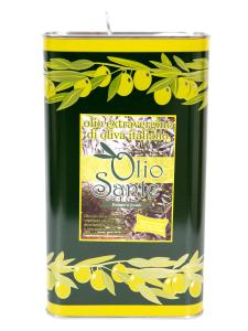 Olio EVO Ogliarola 5L - Olio extravergine di oliva Pugliese cultivar Ogliarola Sante in Latta da 5 Litri - Terre di Ostuni