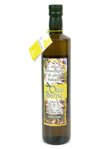 Olio Evo Cima di Melfi 750ml 2017/18 - Olio extravergine di oliva Pugliese cultivar Cima di Melfi Sante in bottiglia da 750 ml - Terre di Ostuni