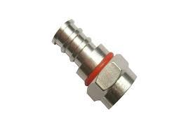 Microtek Connettore a crimpare F maschio per cavo H321 (5mm) in confezione 100 pz.