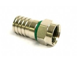Microtek Connettore a crimpare F maschio per cavo H325 (6,7mm) in confezione 100 pz.