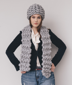 83685ddac2b XXL Scarf  Wool Knit Kit for Scarves and Snoods online + Pattern ...
