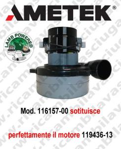 Motore aspirazione 116157-00 LAMB AMETEK per lavapavimenti e aspirapolvere