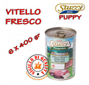 Stuzzy Monoproteico Mangime Umido Cane Cucciolo Puppy 400 gr - Vitello 6 pz