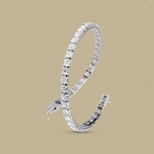 Bracciale Tennis in Oro Bianco e Diamanti Taglio Brillante Puri