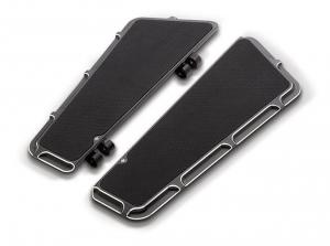 Arlen Ness Beveled Fusion Driver Floorboard, Black