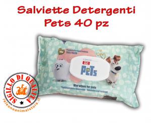 Salviette Detergenti al Talco Pets Cane e Gatto conf. 40 pz