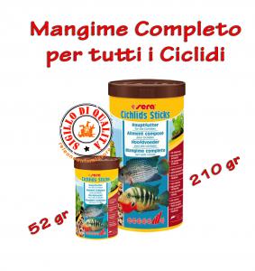 Mangime Completo per tutti i Ciclidi Cichlids Sticks Sera - Mangime Pesci 52gr - 210gr