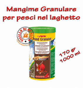 Mangime Granulare per pesci nel Laghetto Pond Granulat Sera - 170gr 1000ml