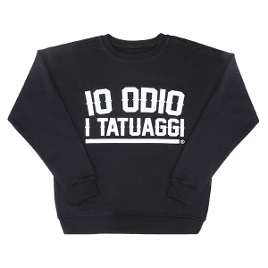 Black Sweater IO ODIO I TATUAGGI