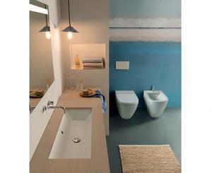 Lavabo per il bagno da incasso cm 75 x 34 Stockholm Globo