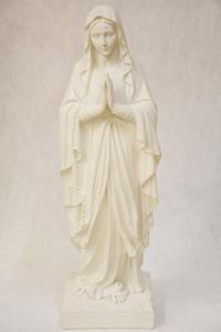 Statua Madonna di Lourdes in polvere di marmo DEC43-60