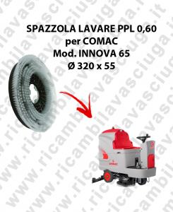 Cepillo Standard  in PPL 0,60 Dimensiones ø320 x 55 para fregadora COMAC INNOVA 65