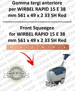 RAPID 15 E 38 goma de secado delantera para fregadora  WIRBEL