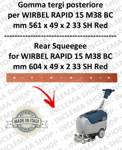 RAPID 15 M 38 BC Squeegee rubber back for scrubber dryers  WIRBEL