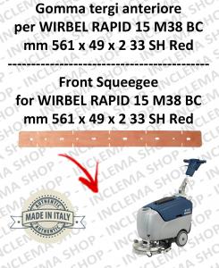 RAPID 15 M 38 BC goma de secado delantera para fregadora  WIRBEL