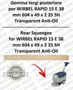 RAPID 15 E 38 goma de secado trasero ANTIOLIO para fregadora  WIRBEL