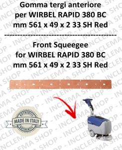 RAPID 380 BC Front Squeegee rubber for scrubber dryers  WIRBEL