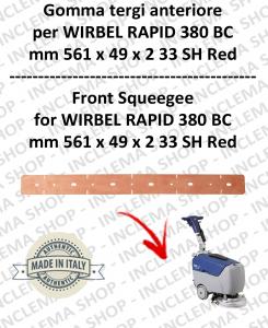 RAPID 380 BC goma de secado delantera para fregadora  WIRBEL