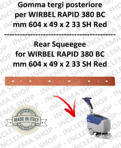 RAPID 380 BC Squeegee rubber back for scrubber dryers  WIRBEL