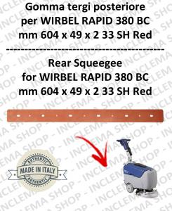 RAPID 380 BC Hinten Sauglippen für Scheuersaugmaschinen WIRBEL