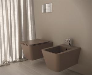 Vaso e bidet sospeso per il bagno cm 54 x 35 Incantho Globo
