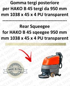 B 45 (saug von 950 mm) Hinten sauglippen für scheuersaugmaschinen HAKO
