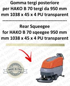 B 70 (saug von 950 mm) Hinten sauglippen für scheuersaugmaschinen HAKO
