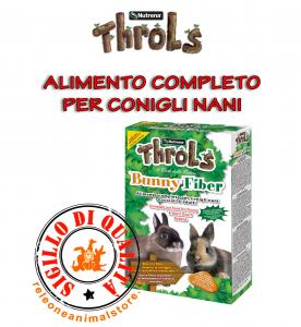 Alimento Completo per Conigli Nani Cuccioli e Adulti Throls BunnyFiber 800gr Fibre