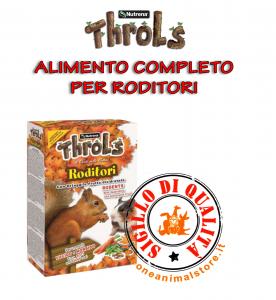 Alimento Completo per Roditori con Ortaggi e Frutta Disidratata Throls Roditori 750gr