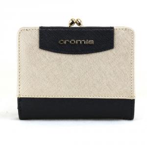Woman wallet Cromia IT SAFFIANO 2690649 NERO+ORO