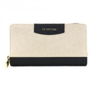 Woman wallet Cromia IT SAFFIANO 2630645 NERO+ORO