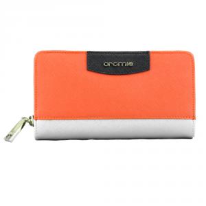 Woman wallet Cromia IT SAFFIANO 2630645 PLATINO+VERMIGLIO