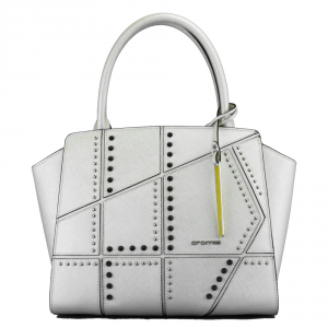 Hand and shoulder bag Cromia PERLA ROCK 1403614 PLATINO