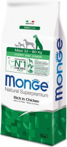 MONGE SUPERPREMIUM CANE MAXI PUPPY & JUNIOR POLLO